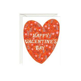 Paula & Waffle Valentine's Day Card - Red Heart