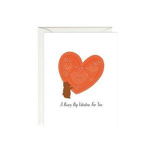 Paula & Waffle Valentine's Day Card - Beary Big Valentine
