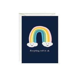 Paula & Waffle Encouragement Card - Everything Will Be OK