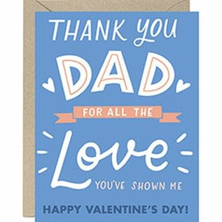 Waste Not Paper Valentine's Day Card - All the Love Dad