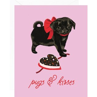 Waste Not Paper Valentine's Day Card - Pugs & Kisses