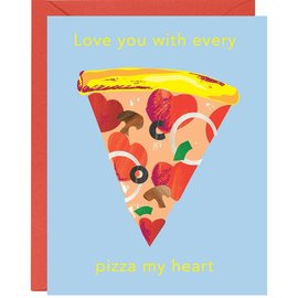 Waste Not Paper Valentine's Day Card - Pizza My Heart