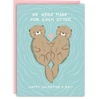 Waste Not Paper Valentine's Day Card - Made For Each Otter