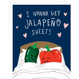 Waste Not Paper Valentine's Day Card - Jalapeño Sheets