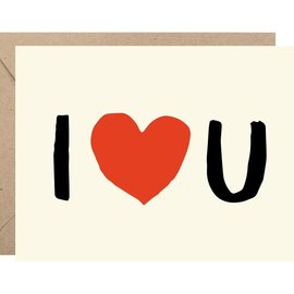 Waste Not Paper Valentine's Day Card - I Heart U
