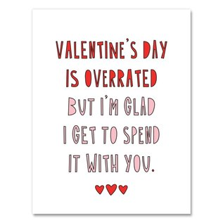 Near Modern Disaster Valentine's Day Card - Overrated