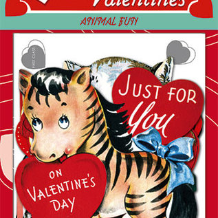 Laughing Elephant Fun With Animals Valentine's Day Card Pack