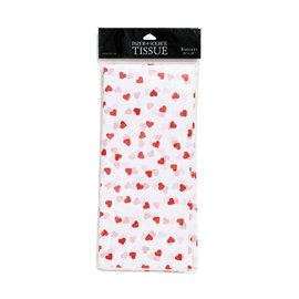 Waste Not Paper Red Hearts Tissue