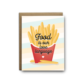 I'll Know It When I See It Valentine's Day Card - Food Love Language
