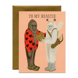 Yeppie Paper Valentine's Day Card - Beastie Valentine