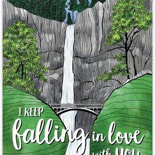 Waterknot Love Card - Falling in Love