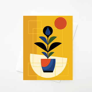 Amber Leaders Greeting Card - Abstract Fiddle