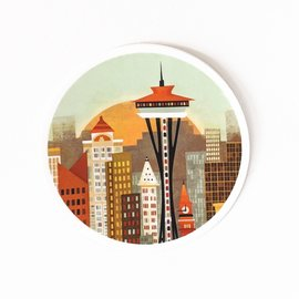 Amber Leaders Seattle Skyline Sticker