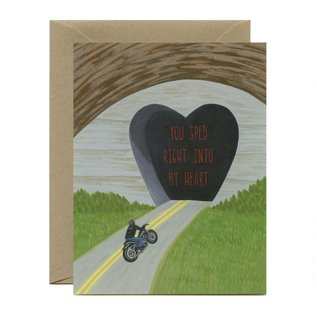 Yeppie Paper Valentine's Day Card - Sped Into My Heart