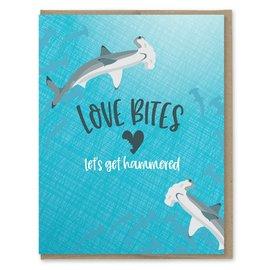Modern Printed Matter Valentine's Day Card - Love Bites Hammerhead