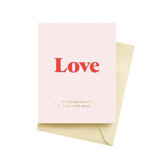 Seltzer Valentine's Day Card - Favorite Word