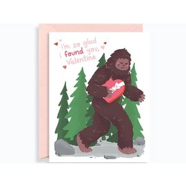 Waste Not Paper Valentine's Day Card - Bigfoot Found You