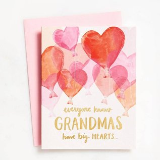 Waste Not Paper Valentine's Day Card - Grandma Balloons Foil