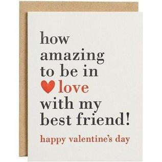 Waste Not Paper Valentine's Day Card - Best Friend
