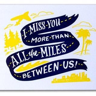 Ladyfingers Letterpress Miles Between Us Postcard