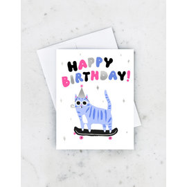 Idlewild Birthday Card - Skater Cat
