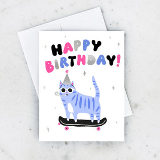 Idlewild Birthday Card - Skater Cat