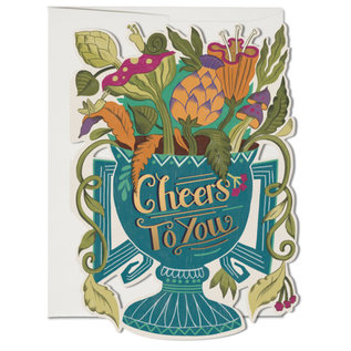 Red Cap Cards Greeting Card - Cheers to You