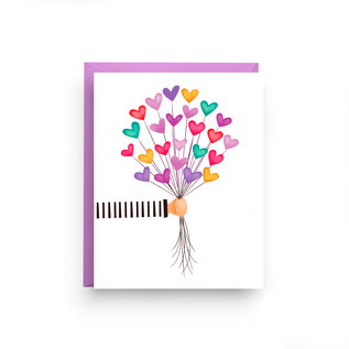 Nicole Marie Paperie Valentine's Day Card - Heart Balloons