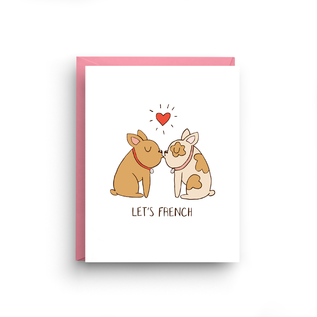 Nicole Marie Paperie Valentine's Day Card - Let's French