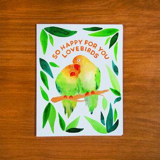 Pretty Bird Paper Co. Wedding Card - Love Birds