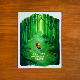 Pretty Bird Paper Co. Encouragement Card - You Are Incredibly Brave