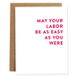 Rhubarb Paper Co. Baby Card - Easy Labor