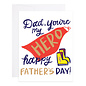9th Letter Press Father's Day - Superhero Dad