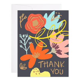 9th Letter Press Thank You Card - Floral