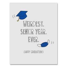 Near Modern Disaster Graduation Card - Weirdest Senior Year