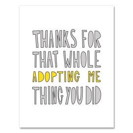 Near Modern Disaster Parent Card - Adopting Me