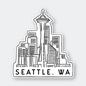 Pike St. Press Seattle Skyline Sticker