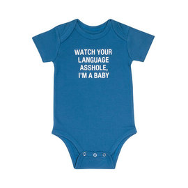 About Face Watch Your Language Onesie
