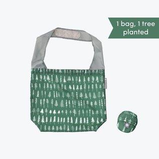 Flip & Tumble Pattern Shopper Bag - Evergreen Trees