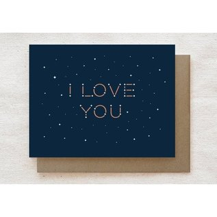 Quirky Paper Co. Love Card - Constellation