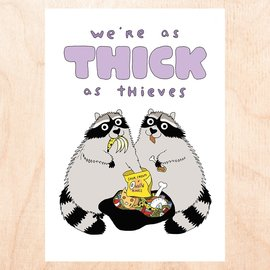 Fine Ass Lines Greeting Card - Thick as Thieves