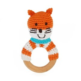 Kahiniwalla / Pebble Fox Wooden Ring Rattle