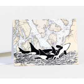 Buy Olympia Greeting Card - Orca Sighting