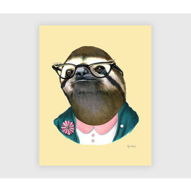 Buy Olympia Berkley Illustration 8x10 Print - Sloth Lady