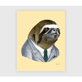 Buy Olympia Berkley Illustration 8x10 Print - Sloth Gentleman