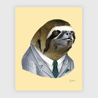 Buy Olympia Berkley Illustration 8x10 Print - Sloth Gentleman