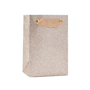 Waste Not Paper Small Champagne Glitter Gift Bag