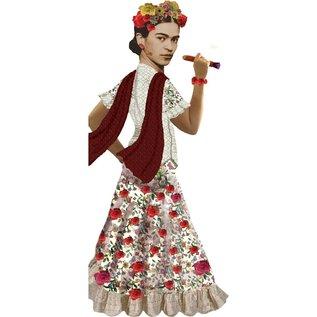 Unemployed Philosophers Guild Die-Cut Card - Frida Kahlo