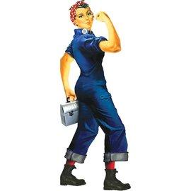 Unemployed Philosophers Guild Die-Cut Card - Rosie the Riveter