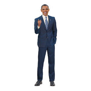 Unemployed Philosophers Guild Die-Cut Card - Barack Obama